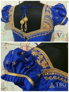 Customised Bridal Blouse designs for South Indian weddings. Choose from latest collection and get it done from highly experienced TBG Wedding fashion designer. Call/WhatsApp for more designs Saree Blouse Neck Designs, Choli Designs, Fancy Blouse Designs, Bridal Blouse Designs, South Indian Blouse Designs, Stylish Blouse Design, Designer Blouse Patterns, Blouse Models, Indie