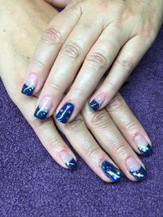 Night and star nail art