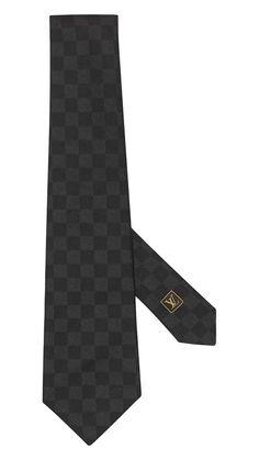 Louis Vuitton damier tie, noir