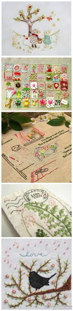 super nice embroidery designs, fresh ~ home ~ color I also embroidered a ~