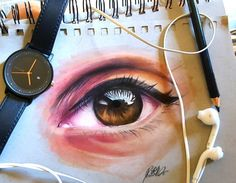 Eye drawing by Manuela Lai