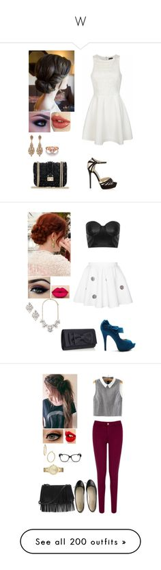 """W"" by queenbeautiee ❤ liked on Polyvore featuring Ally Fashion, Jimmy Choo, Jose & Maria Barrera, Ollio, Ardell, Forever 21, Disney, Debut, Christian Dior and Bony Levy"