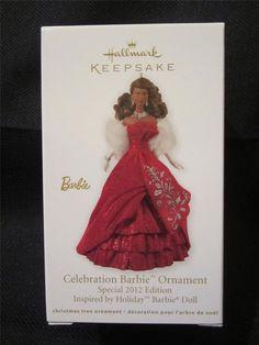 Hallmark Keepsake Ornament; Celebration Barbie. 2012.