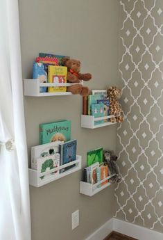 Great No Cost Ikea Spice Racks Used As Bookshelves - Ideas For Baby Zi . Popular In several dormitories Ikea rooms are very happy to be viewed, as they provide numerous alternatives Ikea Hack Kids, Hacks Ikea, Hacks Diy, Baby Hacks, Cleaning Hacks, Girl Nursery, Girl Room, Girls Bedroom, Trendy Bedroom