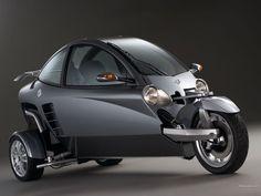 Looks like a bike but has a steering wheel