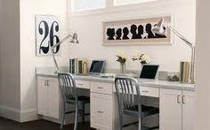 (From Martha Stewart Living)  Great idea to tuck a homework area into a niche along a hallway