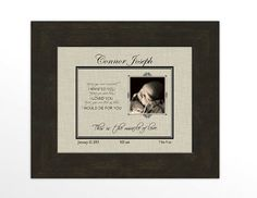 Personalized Baby Announcement Photo/Miracle by TheKellyHomestead Miracle of Love Poem - Before you were conceived...
