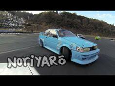 AE86 vs KE70 drifting at Nikko Circuit 日光サーキットのメカチューン対決!