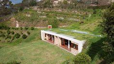 Maison végétalisée cordillère des Andes