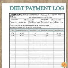 Savings Challenge Discover Debt Payment Log Debt Tracker Debt Snow Ball See your progress each time you log a payment! Fillable on computer! Debt Payment Log Debt Tracker Debt Snow Ball See your progress each time you log a payment! Budget Binder, Budget Planner, Monthly Budget, Planner Ideas, Organized Planner, Mom Planner, Budget Spreadsheet, Planner Journal, Daily Journal