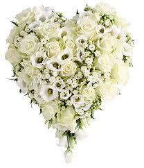 hvit begravelse hjerte