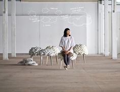 Cloud Stool - Joon&Jung - Inspired by the flexibility an softness of the cloudscape