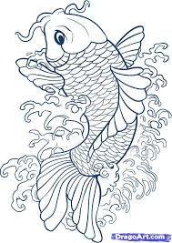 Αποτέλεσμα εικόνας για koi fish drawings in pencil