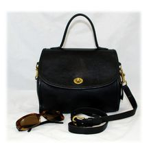 Love this vintage Coach Manor bag - retro look satchel with crossbody strap - nice larger size Coach.