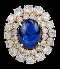 HARRY WINSTON Cabochon Sapphire  Diamond Ring Did you know that Pinterest drives more website traffic than Google+, LinkedIn, Reddit, and YouTube... COMBINED!! Get Your Pinterest bot to put your pinning on auto-pilot http://ibourl.com/1nhp