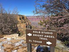Walking Trail along Grand Canyon's South Rim