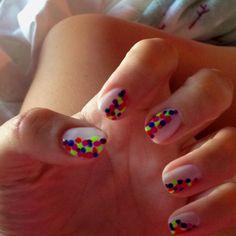 Funky dot nails