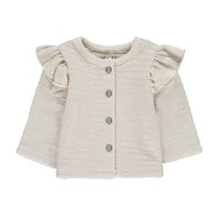 Laura Lurex Ruffle Fleece Cardigan Louis Louise Baby- A large selection of Fashion on Smallable, the Family Concept Store - More than 600 brands.