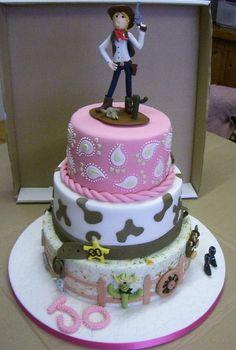 30th Birthday Cowgirl Cake (Photo 4)