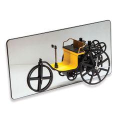 Aynalı Araba Promosyon Masa Saati  Ürün Bilgisi ;  37,7 x 18,9 x 10 cm Çarklar dönüyor