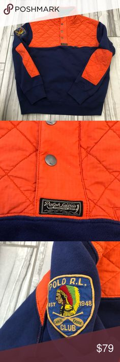 Polo Ralph Lauren pull over. Like new. Polo Ralph Lauren pull over. Like new. 1/4 high quality talon zip and button up.  Stash pocket on chest.  Pet and smoke free home. No rips or stains.  Xl fits like an L Ralph Lauren Jackets & Coats