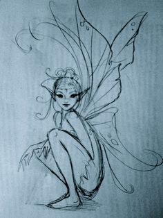 Drawing Doodles Sketches ✯ Artist Courtney Thomas ✯ More - Magical Creatures, Fantasy Creatures, Fantasy Kunst, Fantasy Art, Elves Fantasy, Fantasy Fairies, Elfen Tattoo, Fairy Sketch, Fairy Drawings