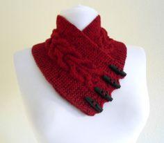 MenWomenunisex BurgundyTweed neckwarmers autumn by likeknitting, $28.99