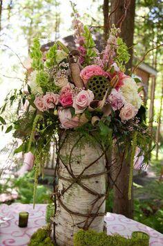 Rustic Wedding Centerpiece | Garden Wedding