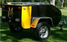 Small Lightweight Aluminum Motorcycle Towable Pull Behind Cargo Trailer - MLT Trailers