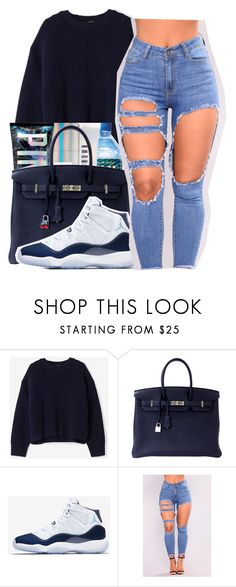 """""""Juice Yo gotti"""" by maiyaxbabyyy ❤ liked on Polyvore featuring Acne Studios, Hermès and NIKE"""