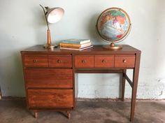 MID CENTURY MODERN 4 Drawer Desk Los Angeles by HouseCandyLA