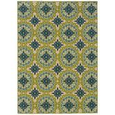 Found it at Wayfair - Indoor/OutdoorGreen & Ivory Area Rug
