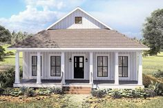 Small Lake Houses, Small Cottage House Plans, Small Cottage Homes, Small House Floor Plans, Small Cottages, Cottage Plan, Small Farmhouse Plans, Cottage Porch, Cottage Style Homes