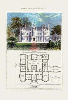 A Tudor Manor House, Henry VIII #2 by Richard Brown - Art Print
