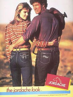 "Jordache jeans.  These were more seventies than sixties, so not really my childhood.  But they reminded me of Dolly Parton saying she was going to start her own jeans line.  She said she was going to call it ""Lardash"". :)"