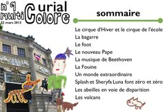 Curial multicolore, n° 9, mars 2013, école Curial, Paris