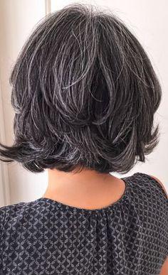 Short salt and pepper gray hair. Silver hair. White hair. Granny hair. No dye. Dye free. Aging and going gray gracefully.