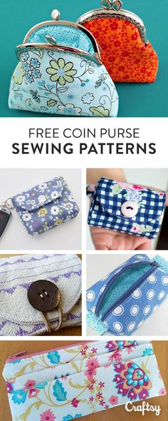 These 12 free coin purse sewing patterns will help you keep track of all your loose change.