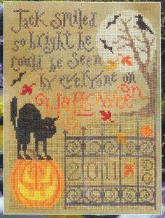Halloween Bright-Halloween bright, cross stitch, silver creek samplers