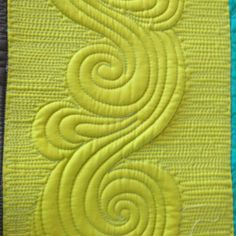 I love how a dense filler makes the quilting pop...well, that and two layers of batting! by AngelaFMQ, via Flickr