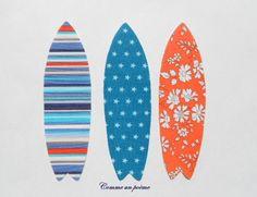 Mes 3 planches de surf