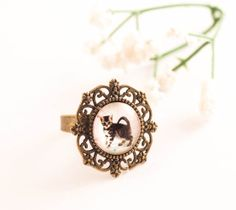 cat ring cat jewelry gift for cat lover statement ring by dauz,