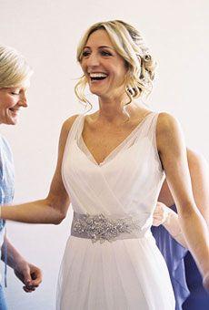 beach casual wedding dress idea  brides.com