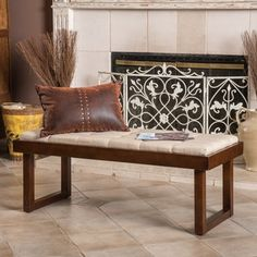Christopher Knight Home Bayer Tufted Fabric Bench Ottoman | Overstock.com Shopping - The Best Deals on Benches