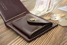 Cartera de piel billetera moneda moneda bolsillo por ZebStamp