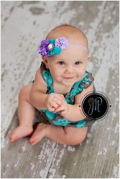 Take a picture every month of your growing baby.