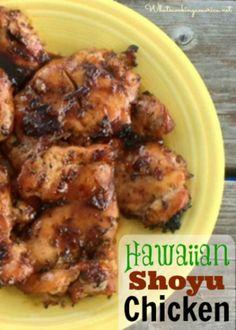 Hawaiian Shoyu Chicken Recipe - Slow Cooker & Grilling Instructions | whatscookingamerica.net | #hawaii #shoyu #chicken #grilling #bbq #slowcooker