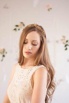 Edwardian leaf mini tiara, silver, gold vintage tiara, laurel tiara, gold leaf tiara, laurel crown, Greek goddess, flower crown, boho #103