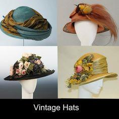 Vintage Hats Collage: