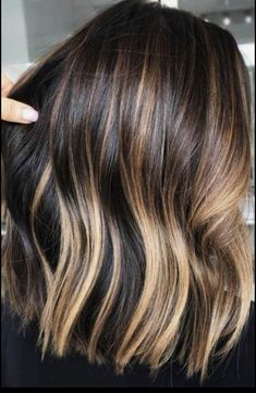 Hair Color 2018 Dark, Warm Gold ❤️ Brown hair is a charming mixture of the most natural colors! See our ideas of how to pull it off: warm caramel ideas, dark chestnut with honey balayage, medium brown color with red accents, and lots of ideas with hig. Brown Hair Cuts, Golden Brown Hair, Light Brown Hair, Dark Hair, Golden Honey, Dark Brown, Golden Blonde, Black Hair With Highlights, Hair Color For Black Hair